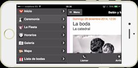 La app para iOS y Android, más web de boda adaptada a móviles